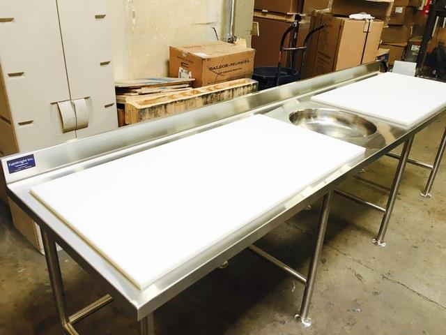Furniture Chic Stainless Steel Prep Table For Kitchen. Extra Large Fish  Cleaning Station